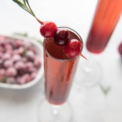 Cranberry Pomegranate Champagne Cocktail
