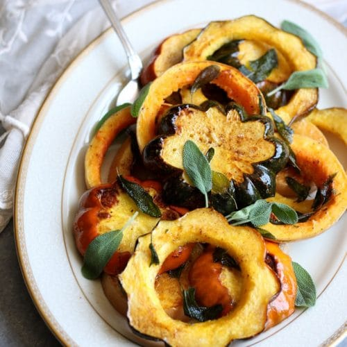Roasted Winter Squash with Brown Butter and Sage