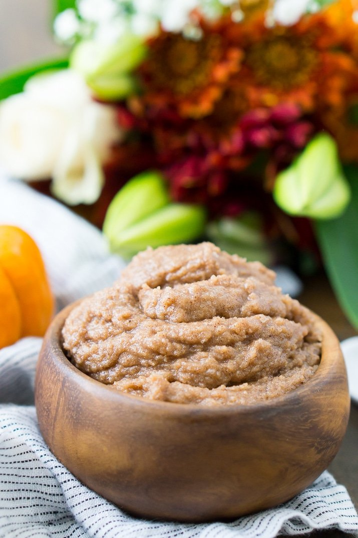 This Pumpkin Spice Sugar Scrub is an easy DIY beauty recipe that will have your skin feeling soft and smelling seasonal! Made with coconut oil, sugar, and spices!