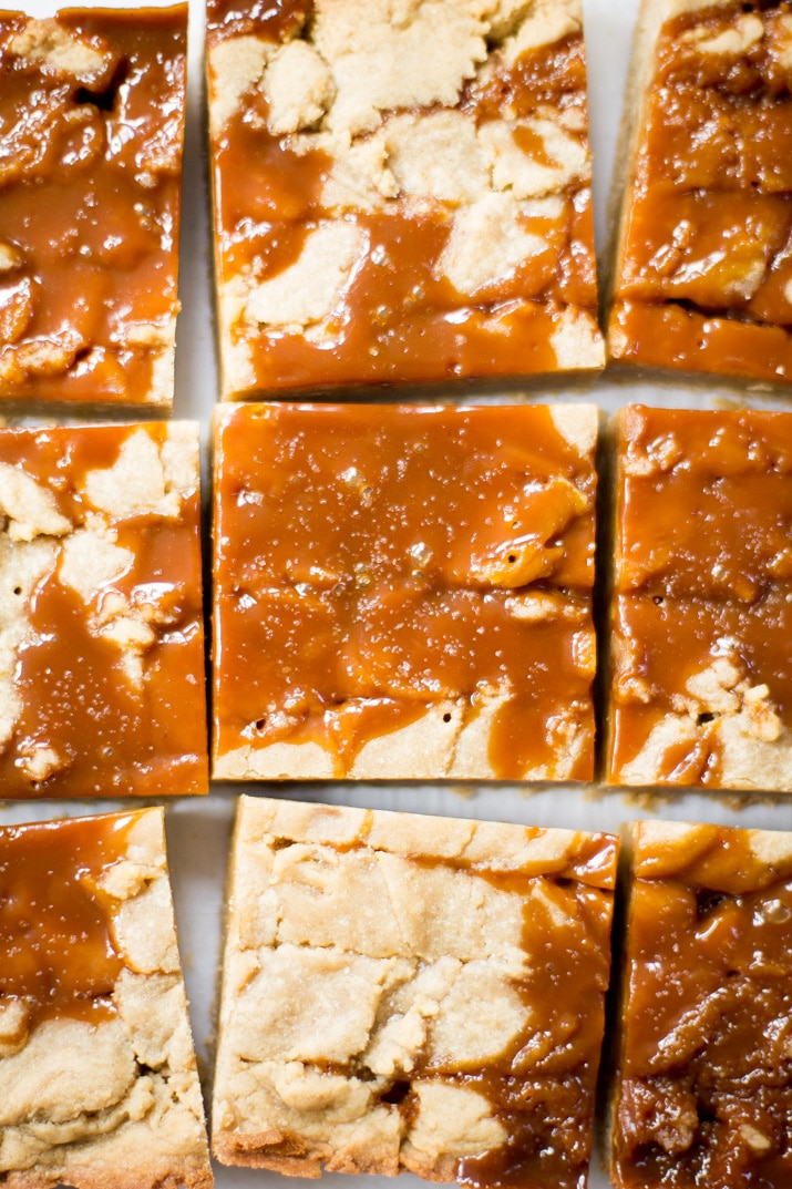 These Easy Salted Caramel Blondies, with layers of sweet vanilla and rich salted caramel flavor, are the epitome of decadence and the perfect dessert to make as we transition into fall!