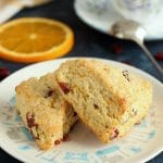 These delicious Cranberry Orange Scones are great for breakfast, as an afternoon snack, or even as a dessert. The smaller portion is perfect for a quick bite on the go without the guilt.