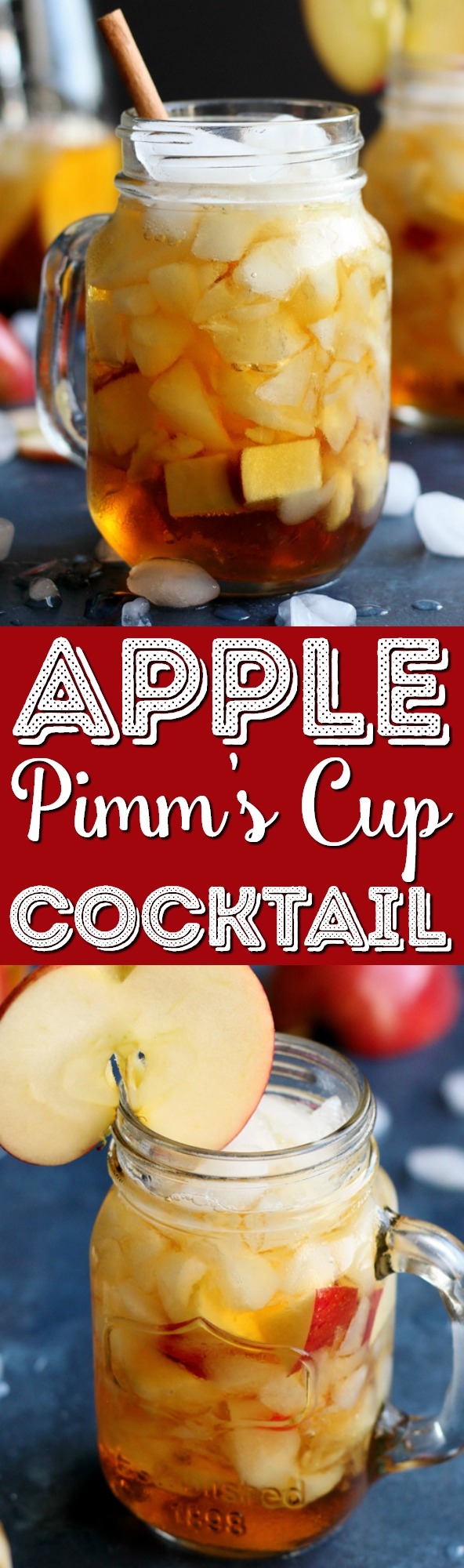 This Apple Pimm's Cup takes a twist on a popular summer cocktail using Fall flavor. This recipe can be easily scaled up to make a few pitchers, enough to serve a whole group of thirsty dinner guests. via @sugarandsoulco