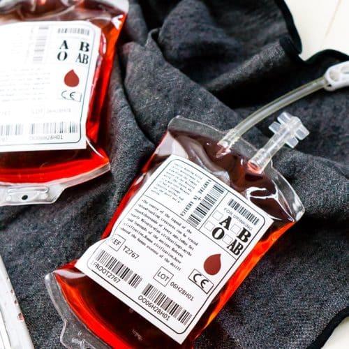 2-Ingredient Blood Bag Cocktail Recipe