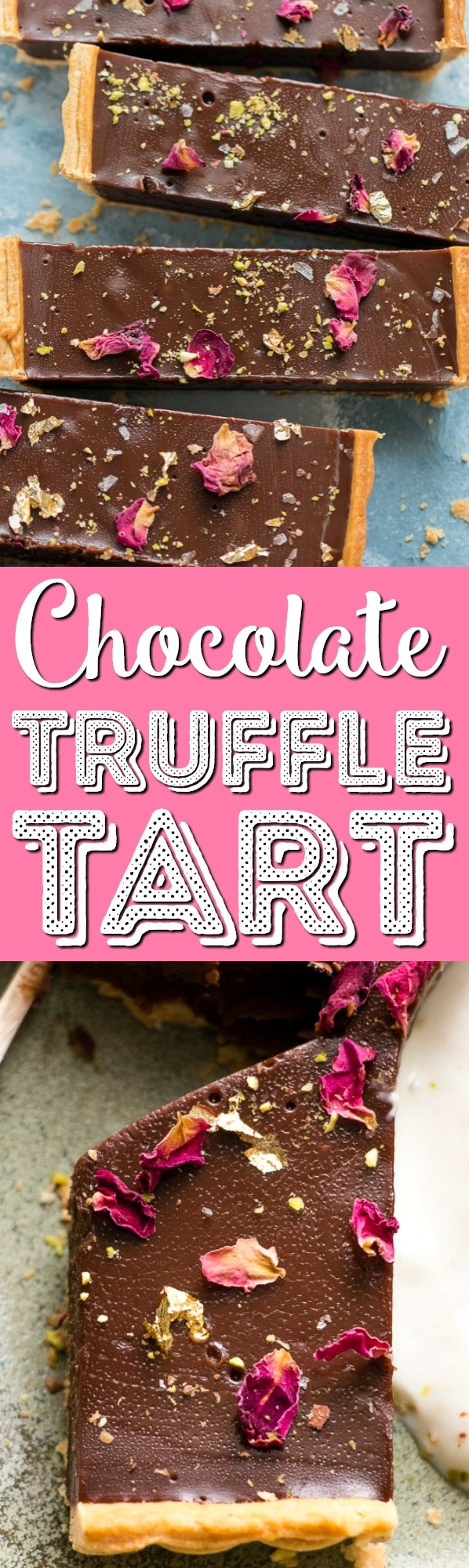 This is the creamiest dreamiest chocolate truffle tart that you will ever eat. Dark smooth chocolate, in a crispy flaky crust, topped with hazelnuts. via @sugarandsoulco