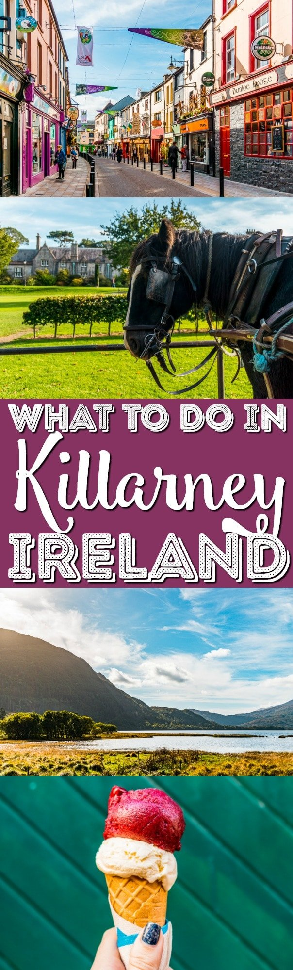 Are you taking a trip to Ireland and not sure where to go? Consider Killarney Ireland for your European vacation in the Ring of Kerry! via @sugarandsoulco