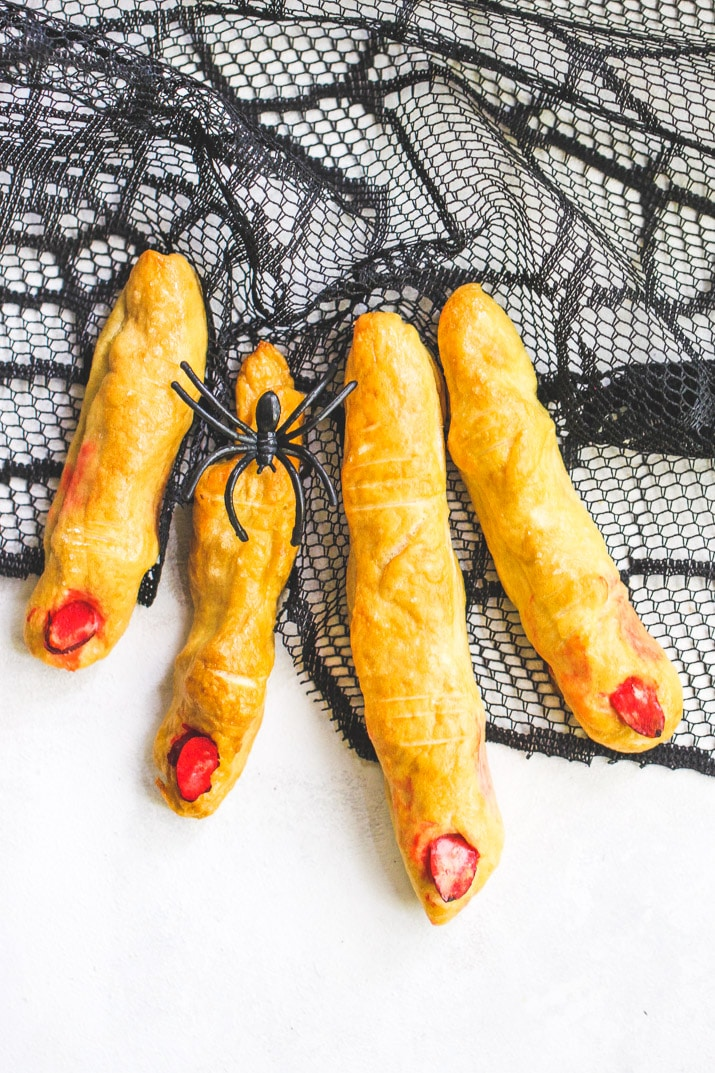 These Soft Pretzel Witches Fingers are the perfect savory snack to pair with all of your Halloween candy!