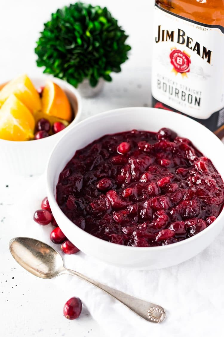 Bourbon Orange Cranberry Sauce Recipe
