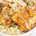 This creamy Cajun Chicken Pasta is a flavorful dinner recipe that's great for busy weeknights! Easy to make and oh so tasty, this chicken dinner is a definite keeper!