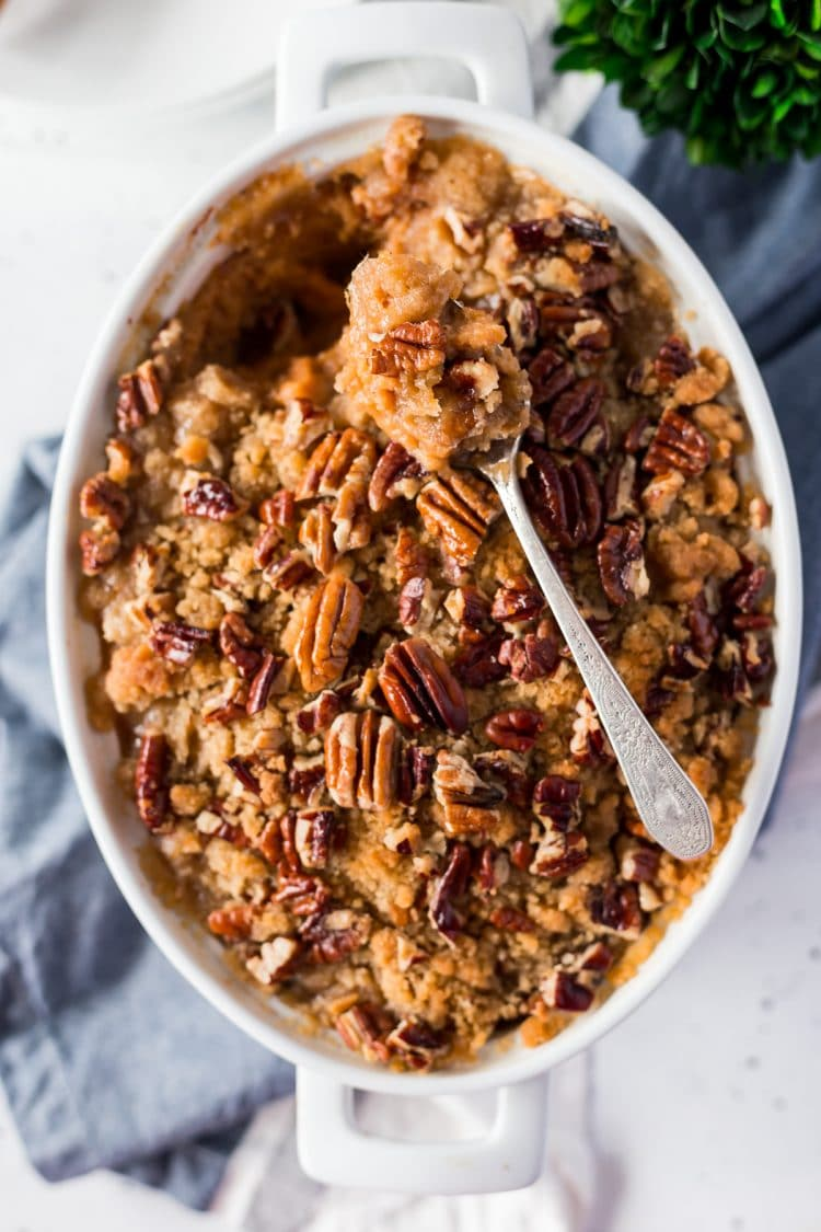 Sweet Potato Casserole with Pecans and Brown Sugar