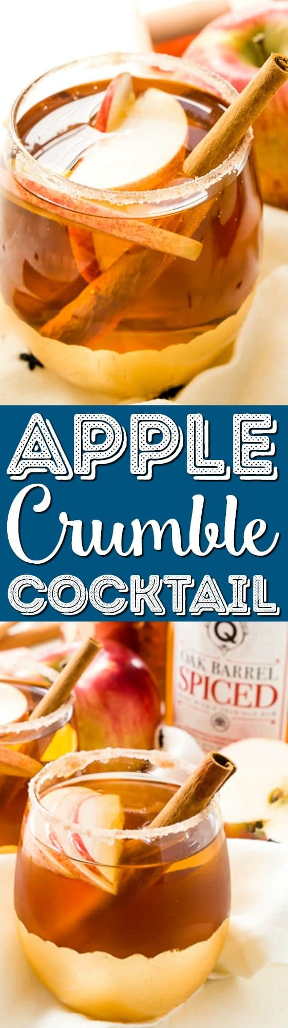 This Apple Crumble Cocktail is so simple to make and tastes like a crumbly apple pie in liquid form, a delicious fall alcoholic drink you can make in minutes!