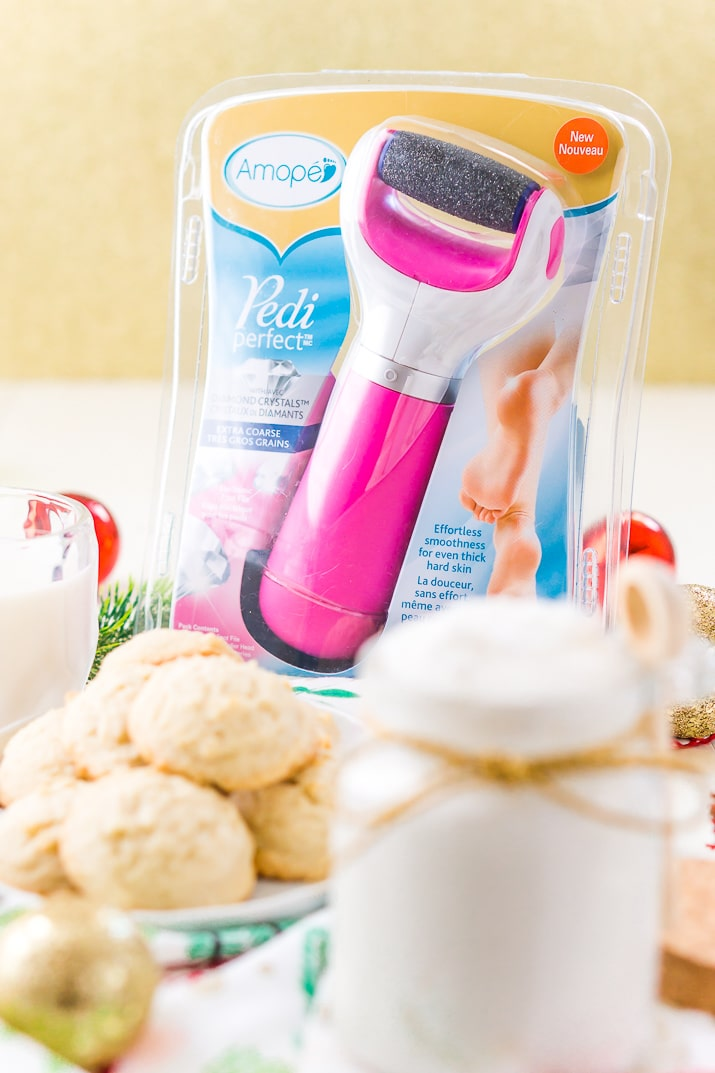 Amope Foot File with Sugar Cookie Body Scrub