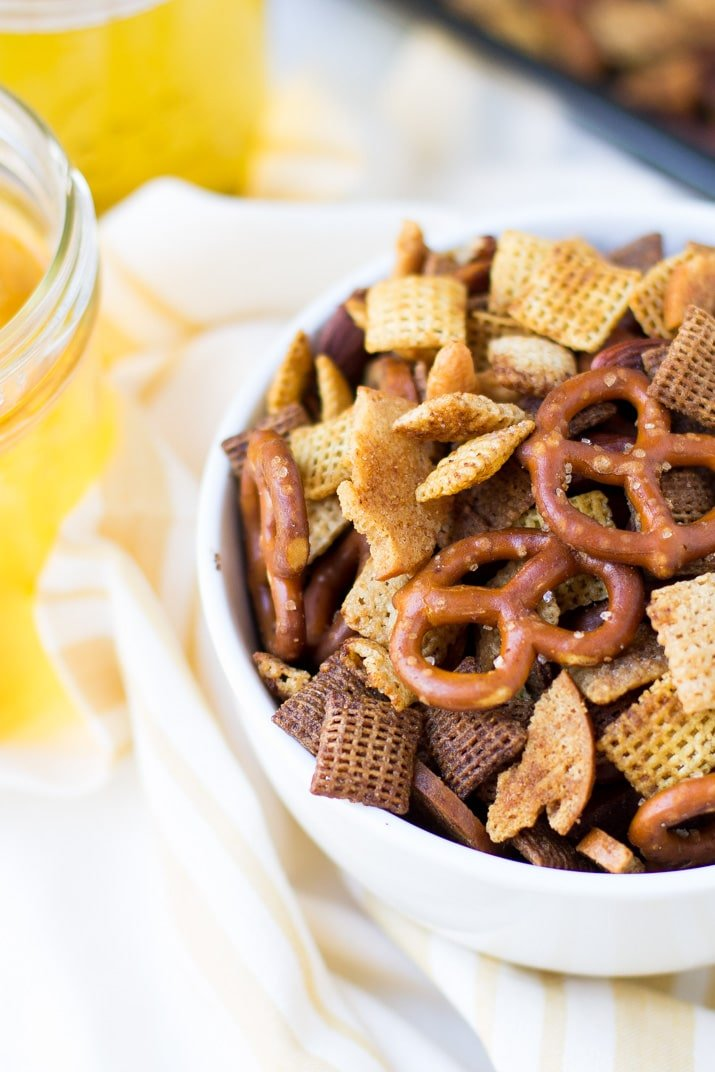 Crunchy, buttery and full of flavor this easy crunchy party mix is the perfect snack for holiday entertaining!