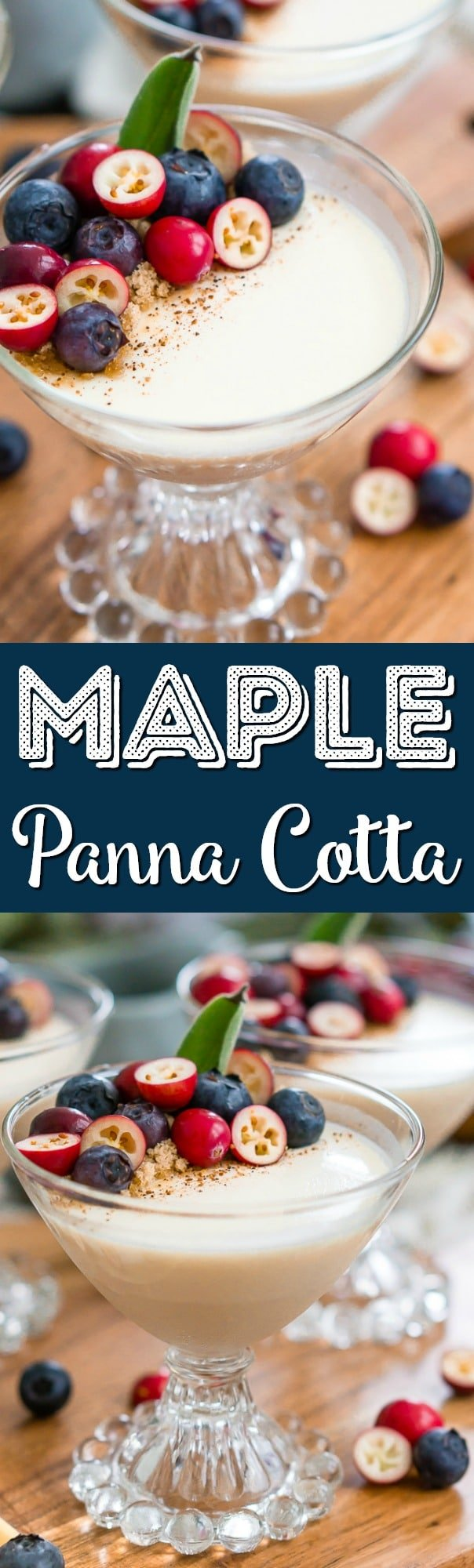 This Maple Panna Cotta is a light and creamy fall dessert that's simple to make and impressive to serve holiday dinner guests! via @sugarandsoulco
