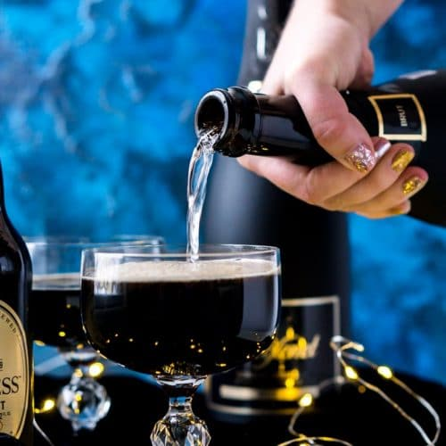 Guinness & Champagne Black Velvet Cocktail