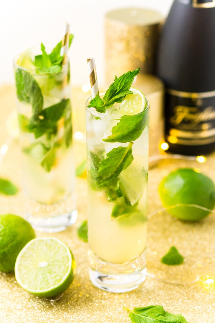 How to make the best mojito recipe with champagne or club soda!