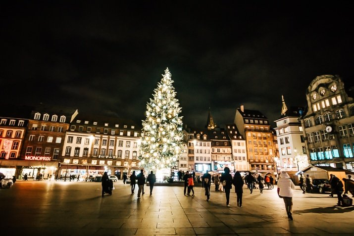 Christmas Tree in Strasbourg France