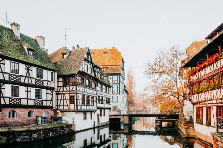 Half-timber houses in Strasbourg France