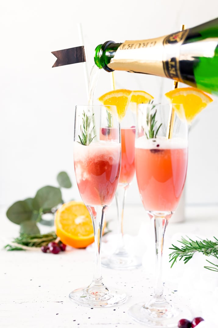 How to Make Cranberry Orange Mimosa Cocktails