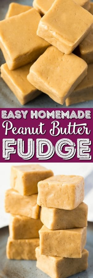 This Easy Peanut Butter Fudge is a simple recipe to make and is the perfect balance of sweet and salty. It's soft and creamy and great for the holidays and special occasions or just because!