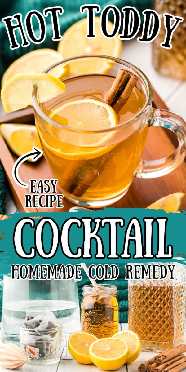 This Hot Toddy recipe is a cold remedy you can mix up at home with simple ingredients that will soothe a sore throat, reduce congestion, and aid sleep. A mixed drink recipe made with lemon, honey, whiskey, and tea. via @sugarandsoulco