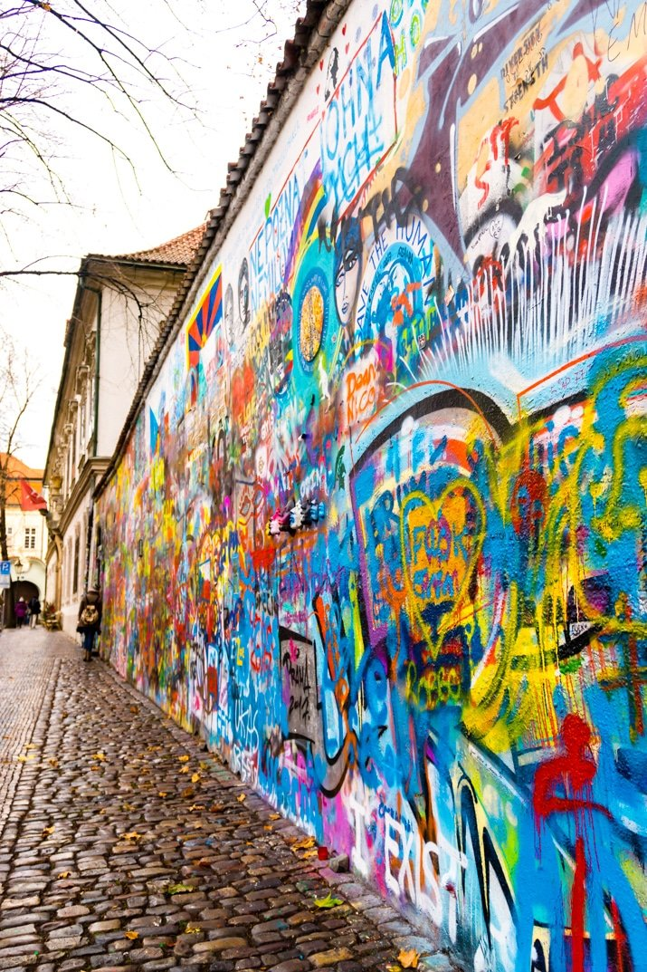 Lennon Wall Prague Czechia
