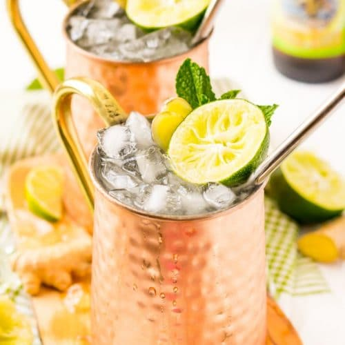 How to Make the Best Ever Moscow Mule Recipe with vodka, lime juice, ginger beer and a few extra ingredients that really take this classic cocktail to the next level!
