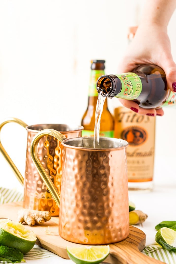 How to make a Moscow Mule with vodka, ginger beer, and lime