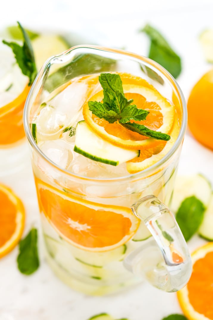 Mint Orange Cucumber Water Recipe