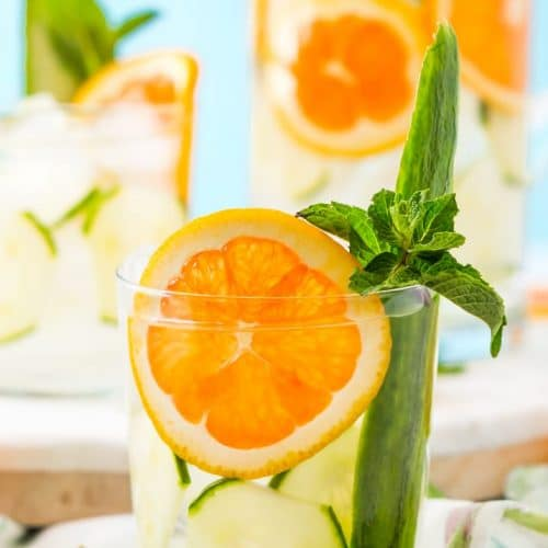 Orange Cucumber Water