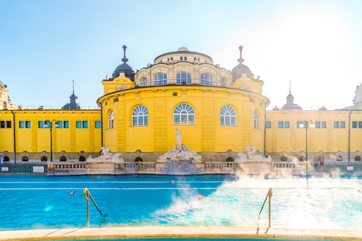 Soak in the Széchenyi Thermal Bath in Budapest, Hungary