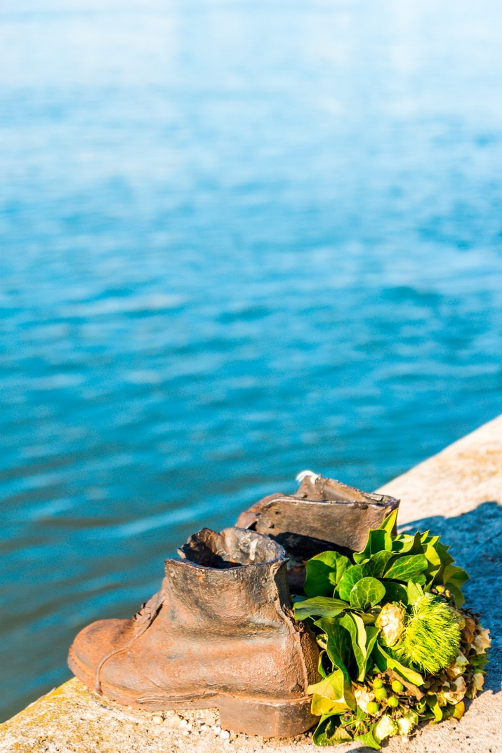 Shoes on the Danube Memorial in Budapest, Hungary