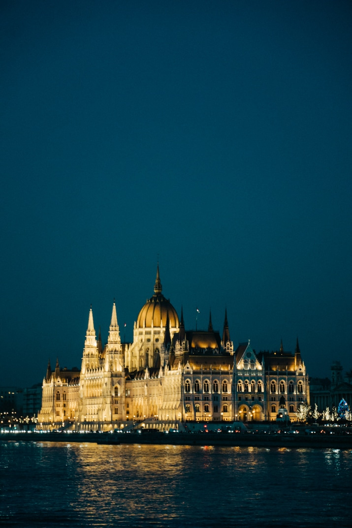 Hungarian Parliament on the Danube River in Budapest
