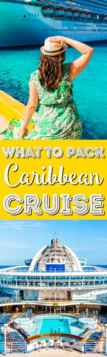 Heading on a cruise and not sure what to stuff in your suitcase? Here's a list of What to Pack for a Caribbean Cruise so you'll have everything you need to enjoy your trip! via @sugarandsoulco