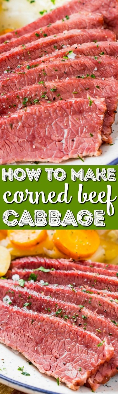 This Corned Beef and Cabbage recipe is a classic Irish dinner perfect for St. Patrick's Day! The meat is brined for 7 to 10 days in savory spices and the brisket becomes tender and flavorful once cooked.