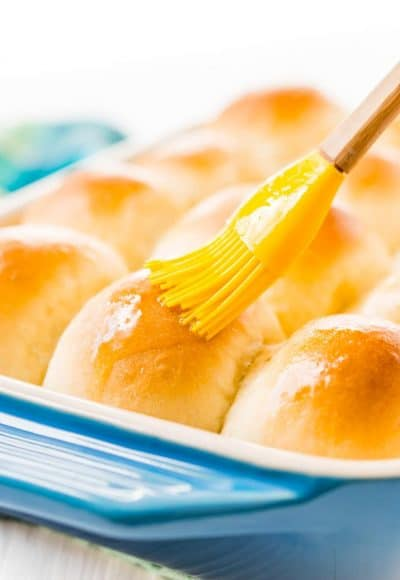 These Yeast Rolls are the perfect fluffy pull-apart dinner rolls for weeknights and holidays. So tender, buttery, and delicious, just like grandma used to make!