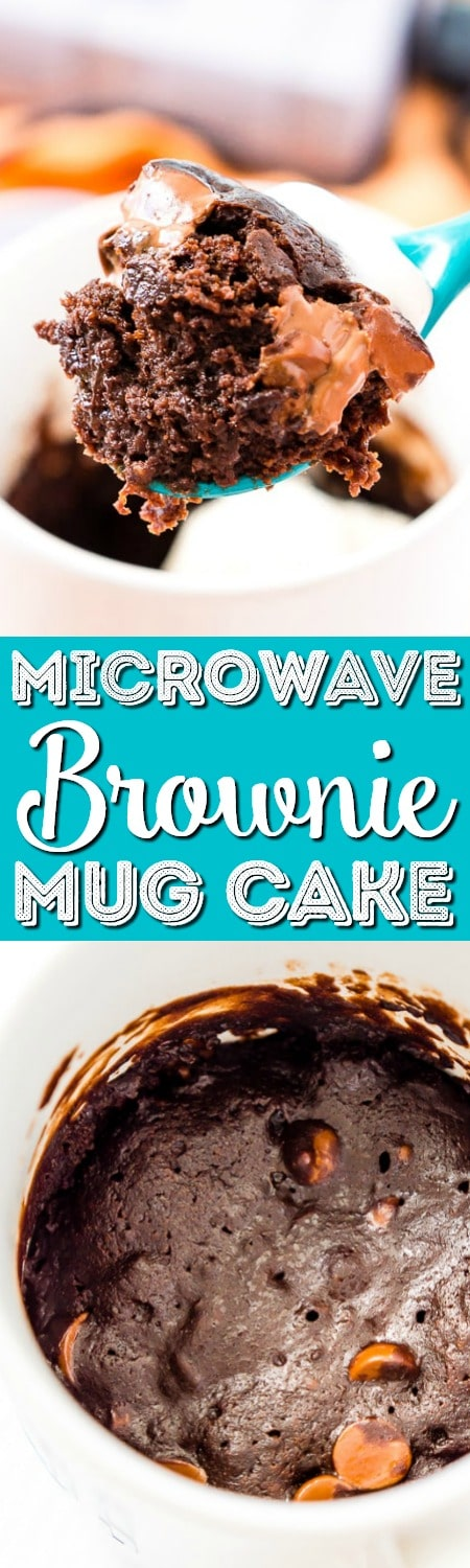 This Microwave Brownie Mug Cake is the perfect quick and easy treat when you're craving a fudgy and indulgent brownie!