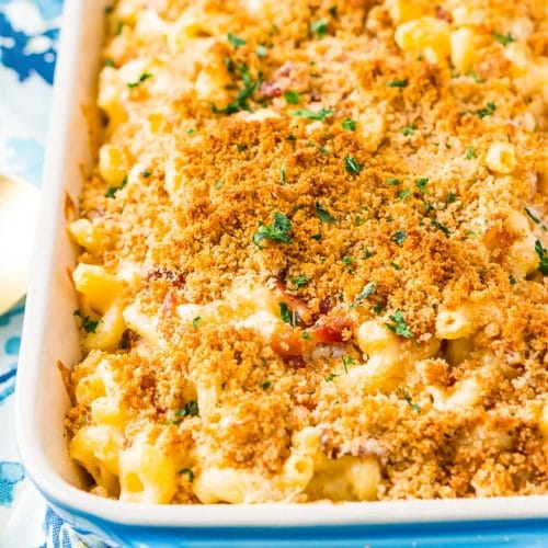 Three Cheese Bacon Mac and Cheese