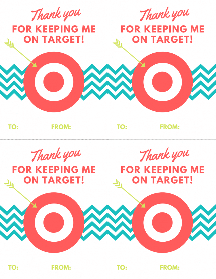 Tell the teacher in your life just how much you care with this free and adorable Target Teacher's Gift Printable! Simply print and add a gift card to it!
