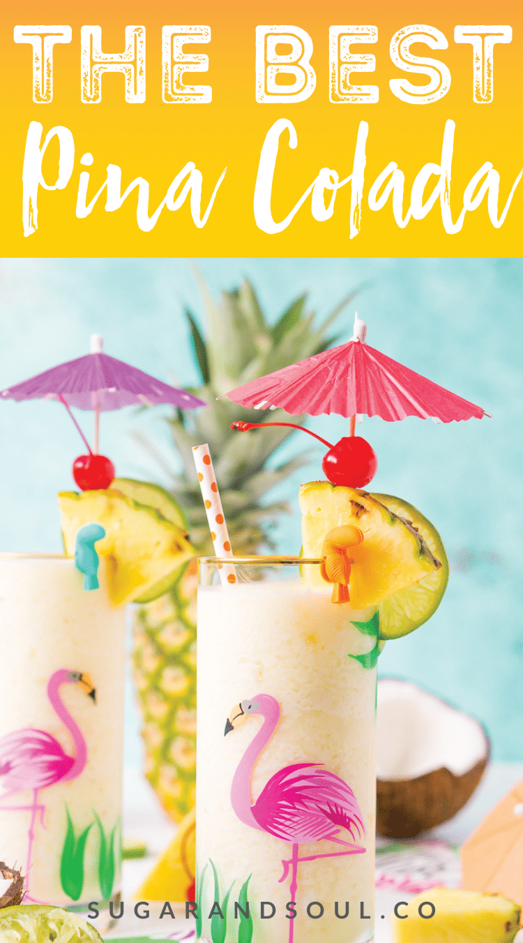 This Pina Colada recipe is a deliciously fruity and frozen drink made with creamy coconut and sweet pineapple and zesty lime juice. Add rum to make things lively or keep it virgin for the whole family to enjoy!