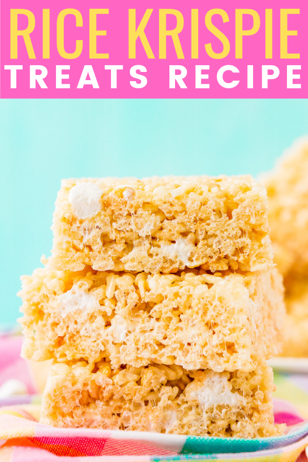 Rice Krispie Treats are loaded with salty butter, sweet marshmallow, warm vanilla, and crunchy cereal. No one will be able to resist this easy and delicious no-bake dessert that's ready in less than 30 minutes! via @sugarandsoulco