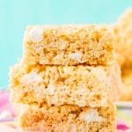 Rice Krispie Treats are loaded with salty butter, sweet marshmallow, and crunchy cereal, no one will be able to resist this easy and delicious no-bake dessert that's ready in less than 30 minutes!