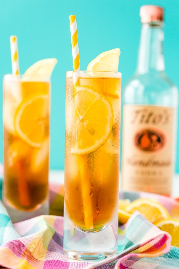 Sweet Tea is a Southern Staple in the heat of summer, make it the traditional way or spike it with vodka for a refreshing cocktail.