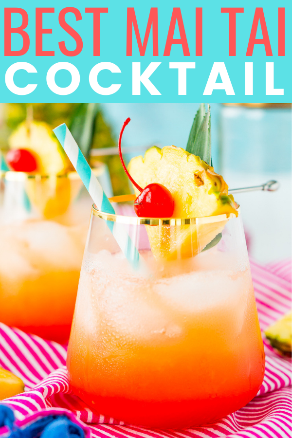 A Mai Tai is a boozy blend of coconut and spiced rum, triple sec, orange and pineapple juices, and a splash of grenadine. Mix up a batch for a taste of the tropics to enjoy with friends and family this summer. via @sugarandsoulco