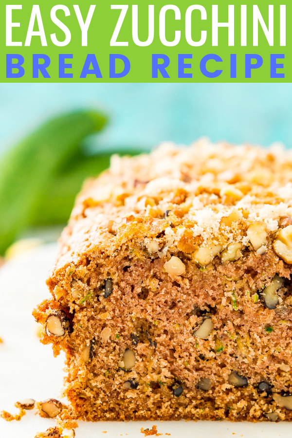 his Zucchini Bread recipe is a delicious quick bread that's loaded with tender zucchini, walnuts, and cinnamon - you can add lemon or chocolate chips too!