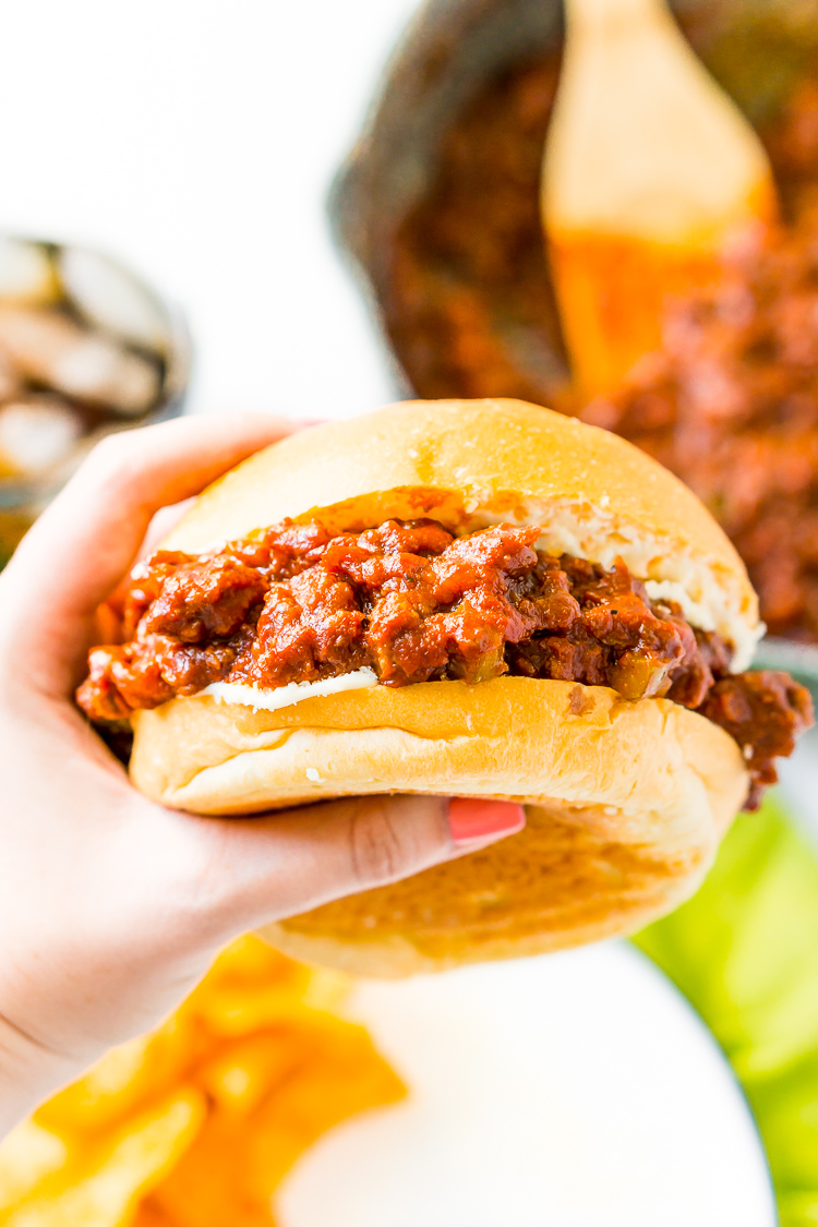 Sloppy Joes are a nostalgic family favorite, and this homemade version kicks the canned stuff to the curb! Filled with ground beef that's smothered in a zesty sauce, this easy 30-minute meal is perfect to make on busy weeknights.