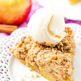 This Impossible French Apple Pie is perfect for people who struggle with pie crust! This spicy and delicious recipe creates its own crust as it bakes!