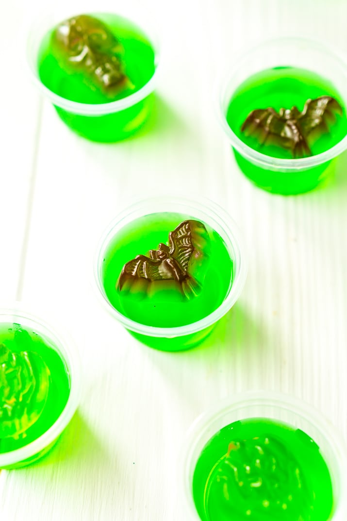 These Halloween Jello Shots are super easy to whip up and will make a fun addition to your Halloween Party!