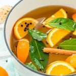 This Turkey Brine recipe made with salt, oranges, bay leaves, cinnamon, brown sugar, and black pepper will add moisture, tenderness, and flavor to your turkey. Brine turkey for 12 to 24 hours for the most amazing turkey for your holiday gathering!