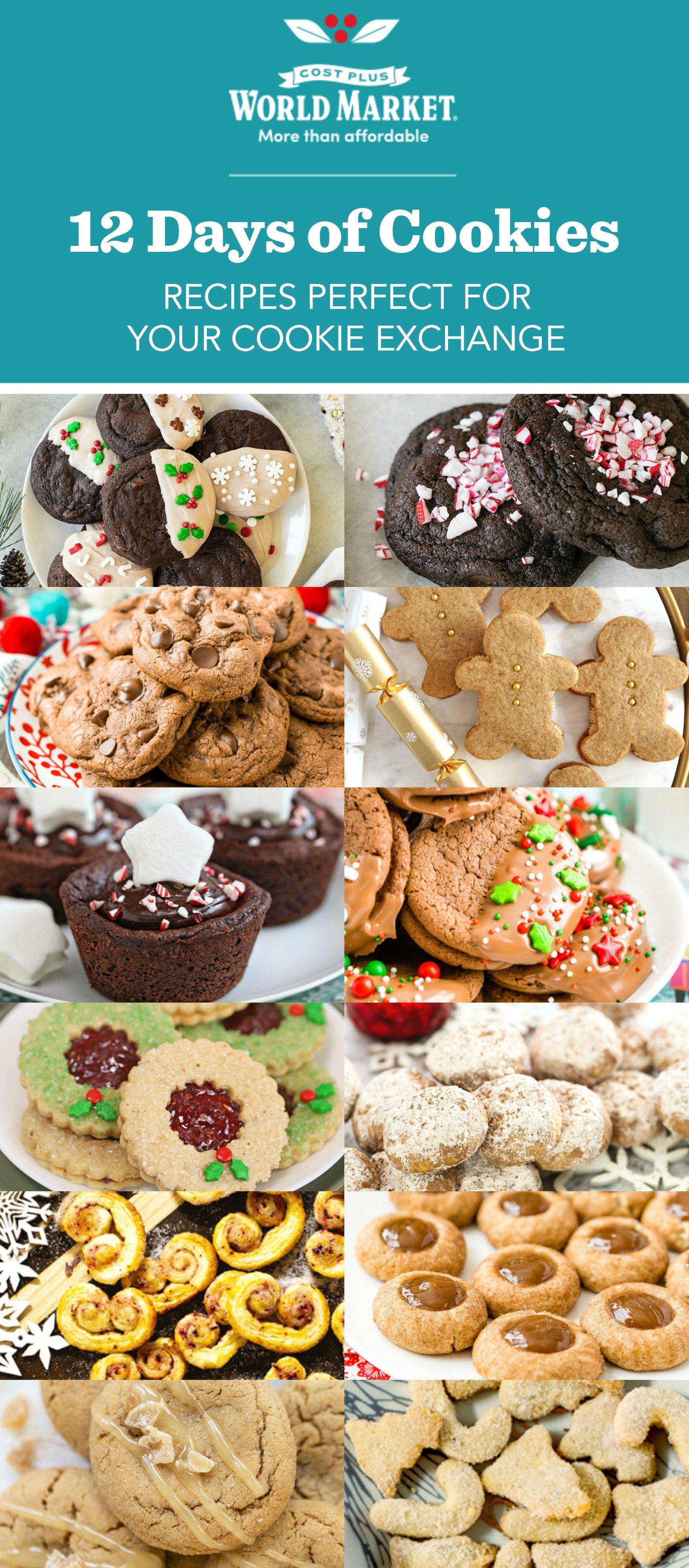 These 12 Christmas Cookie recipes are the perfect way to add fun and flavor to your holiday cookie swaps and gatherings!