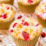 Cranberry Orange Muffins are a delicious and festive breakfast loaded with fresh juicy berries and laced with orange zest.
